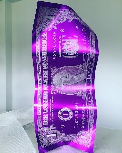 One Dollar -Engraved (Purple)
