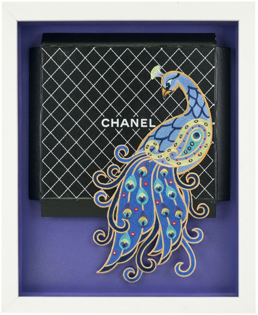 Chanel Purple Plume
