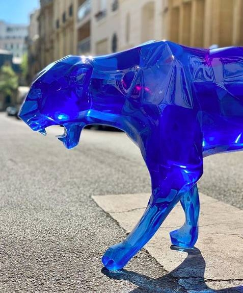Crystal Clear Blue Panther