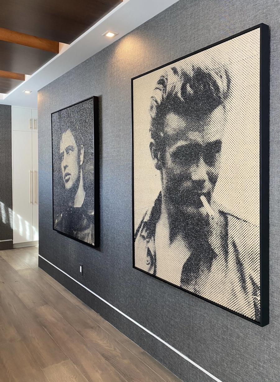 James Dean & Marlon Brando Installation